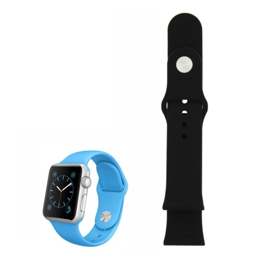 apple-watch-38mm-siliconen-horlogeband-zwart-zonder-connector