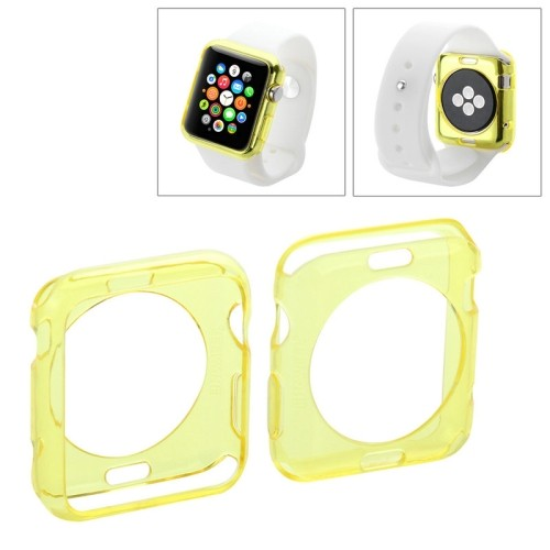 apple-watch-38mm-transparant-tpu-hoesje-case-frontje-geel