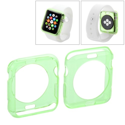 apple-watch-38mm-transparant-tpu-hoesje-case-frontje-groen