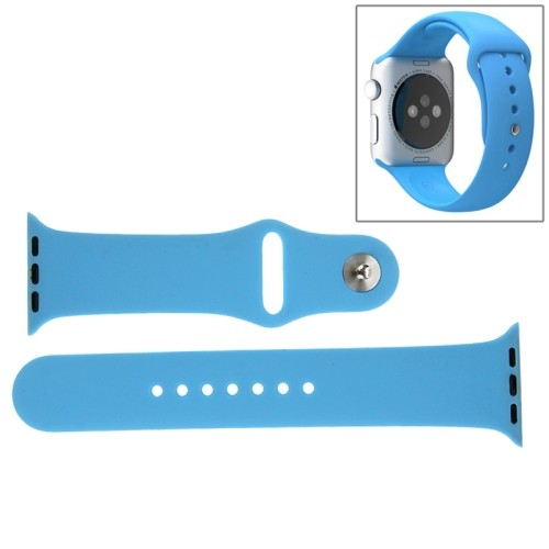 Apple Watch 42mm - Horlogeband - Siliconen - Blauw - (incl Connectors)