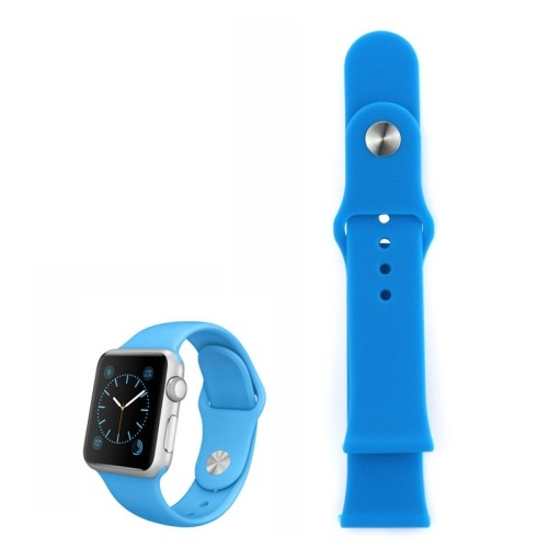Apple Watch 42mm - Horlogeband - Siliconen - Blauw - (zonder connector)