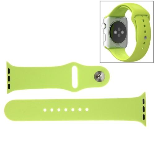 Apple Watch 42mm Siliconen Horlogeband Groen (incl Connectors)