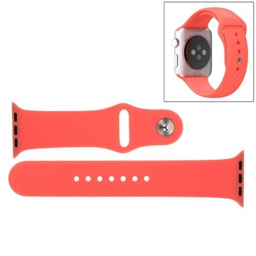 Apple Watch 42mm - Horlogeband - Siliconen - Rood - (incl Connectors)