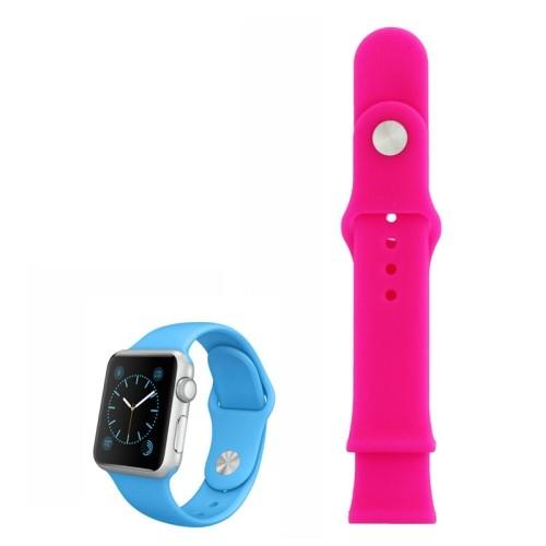 Apple Watch 42mm - Horlogeband - Siliconen - Roze - (zonder connector)