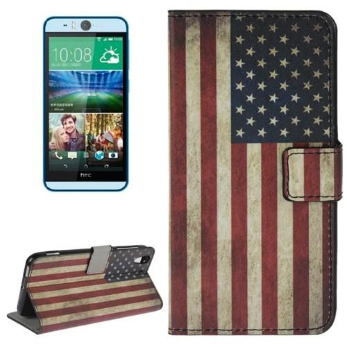 case - PU leder - USA vlag