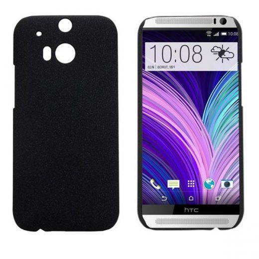 htc-one-m8-hard-cover-case-hoesje-frontje-zwart