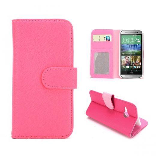 htc-one-m8-mini-flip-cover-case-hoesje-frontje-roze