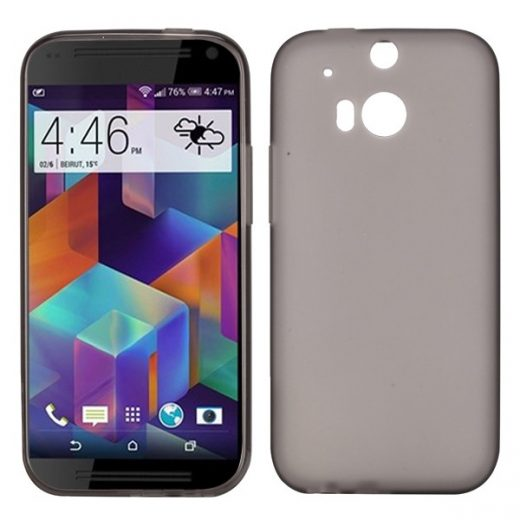 htc-one-m8-soft-tpu-cover-case-hoesje-frontje-grijs