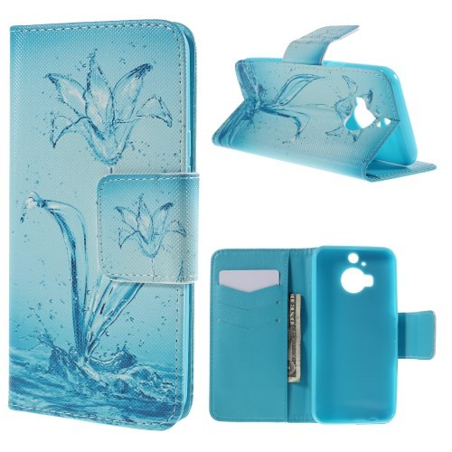 case - PU leder - Waterbloem