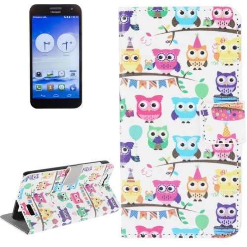 case - PU leder - PC - Cute owls