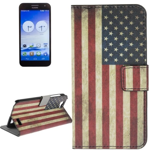 case - PU leder - PC - USA vlag
