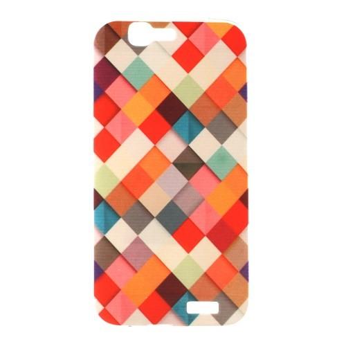 case - TPU - gekleurde blokjes
