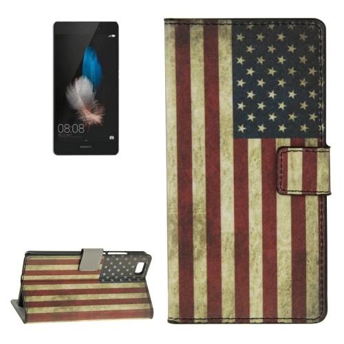 case - PU leder - PC - USA vlag