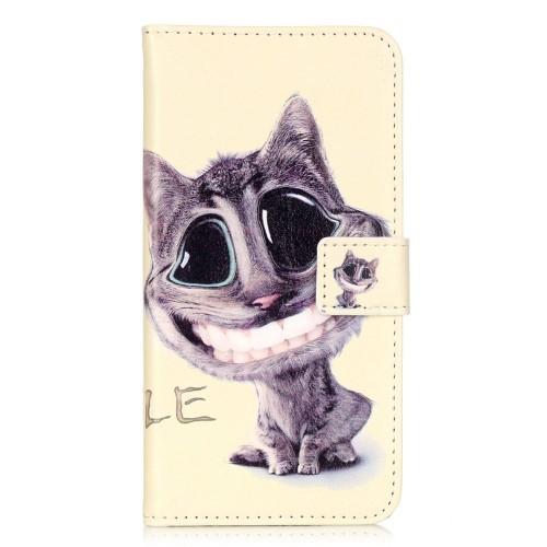case - PU leder - TPU - vrolijke kat