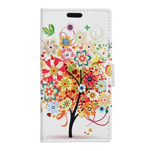 huawei-honor-7-flip-case-cover-hoesje-flower-tree