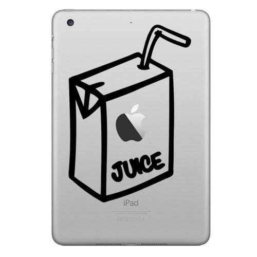 iPad Air / mini / 4 / 3 / Pro - Sticker - Apple Juice Box