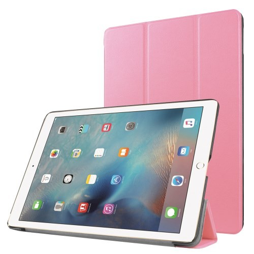 ipad-pro-97-hoes-cover-case-pu-leder-pc-tri-fold-roze