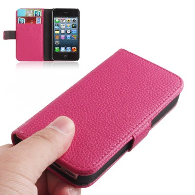 iphone-4-4s-flip-hoes-cover-case-pu-leder-pc-roze