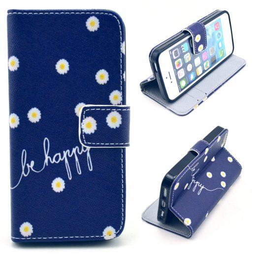 SE - Flip case cover hoesje - PU leer - TPU - Be  happy