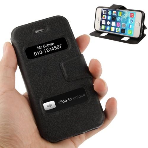 iphone-5-5s-se-flip-case-cover-hoesje-pu-leer-tpu-callid-zwart