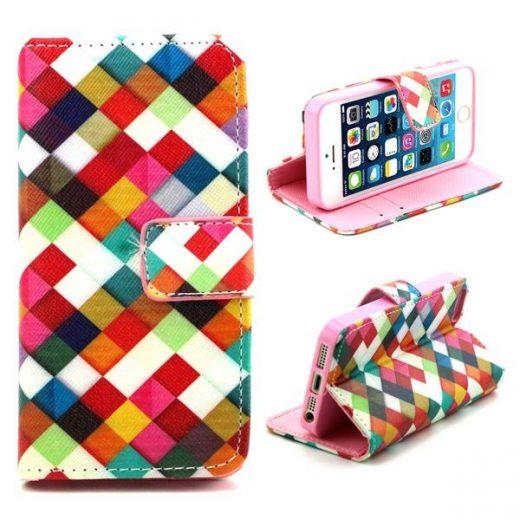 SE - Flip case cover hoesje - PU leer - TPU - Colorful