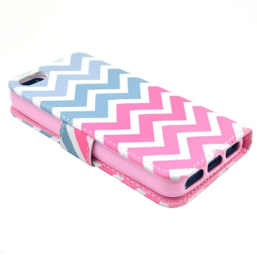 iphone-5-5s-se-flip-case-cover-hoesje-pu-leer-tpu-colorful-wave
