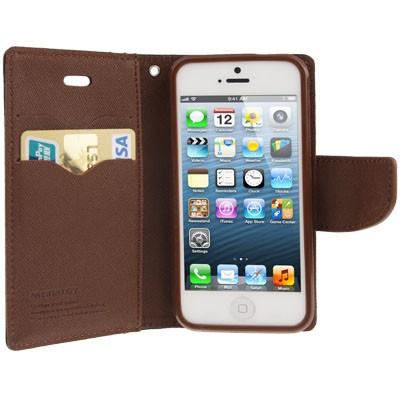SE - Flip case cover hoesje - PU leer - TPU - Zwart / bruin