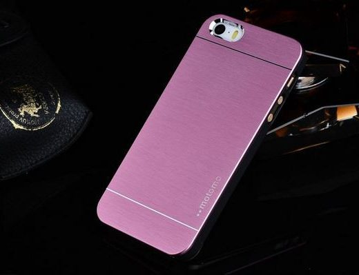 iphone-5-5s-se-hoes-cover-case-motomo-metal-brushed-roze