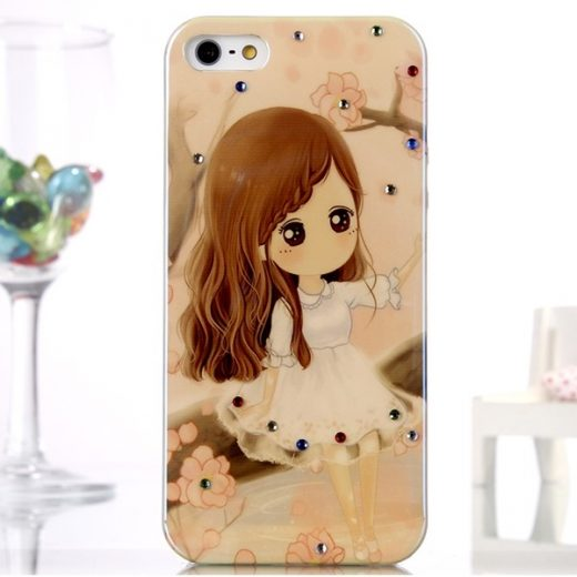 iphone-5-5s-se-hoes-cover-case-tpu-meisje