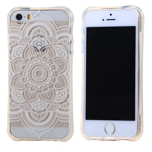 iphone-5-5s-se-hoes-cover-case-tpu-transparant-witte-bloemen