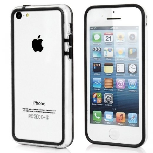 iPhone 5C - Bumper - transparant - Zwart