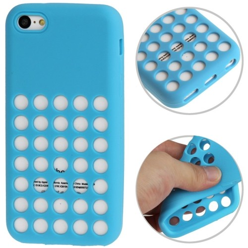 iphone-5c-silicone-dott-case-cover-hoesje-frontje-blauw