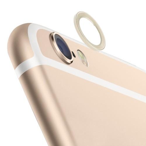 iPhone 6 / 6s (4.7 inch)  - Lens Beschermer - Metaal - Goud