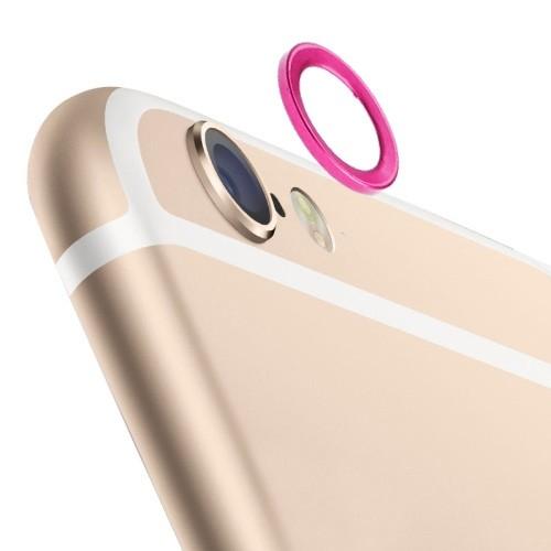 iPhone 6 / 6s (4.7 inch) - Lens Beschermer - Metaal - Magenta
