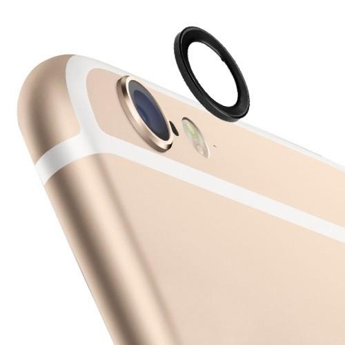 iPhone 6 / 6s (4.7 inch) - Lens Beschermer - Metaal - Zwart