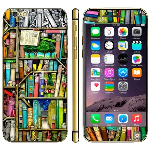 iPhone 6(S) (4.7 inch) Skin sticker Bookself Pattern