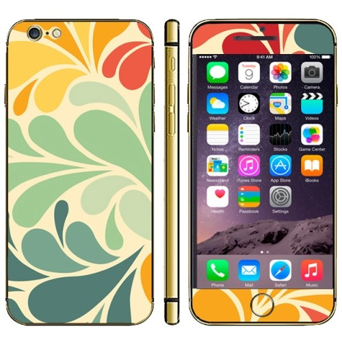 iPhone 6(S) (4.7 inch) Skin sticker Colorfull leaves Pattern