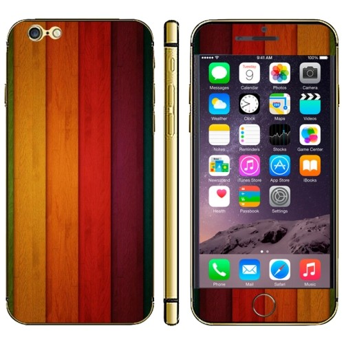iPhone 6(S) (4.7 inch) Skin sticker Colorfull Wood Pattern