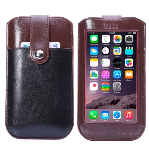 iPhone 6(S) Plus (5.5 inch) Callid Sleeve hoesje bruin