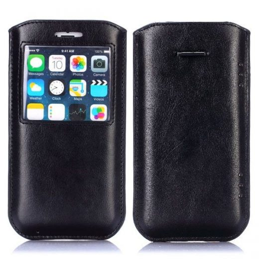 iPhone 6(S) Plus (5.5 inch) - Sleeve hoesje - Callid - Zwart