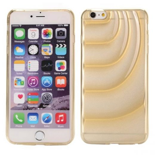 iPhone 6(S) Plus (5.5 inch) TPU Swirl transparant Champagne case cover hoes