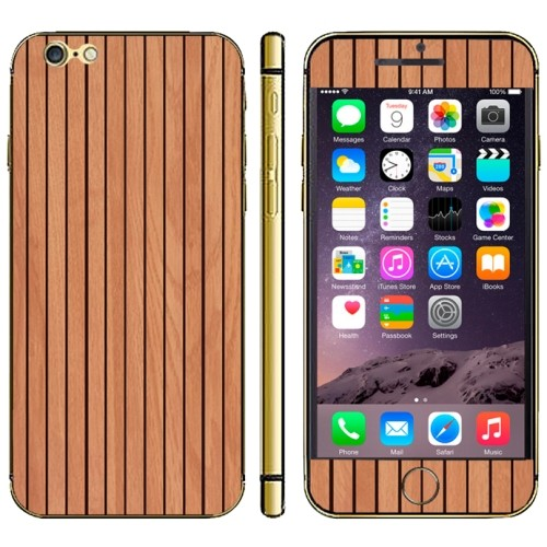 iPhone 6(S) Plus (5.5 inch) Skin sticker Wood Pattern