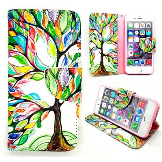 case - PU leder - TPU - Colorful Tree
