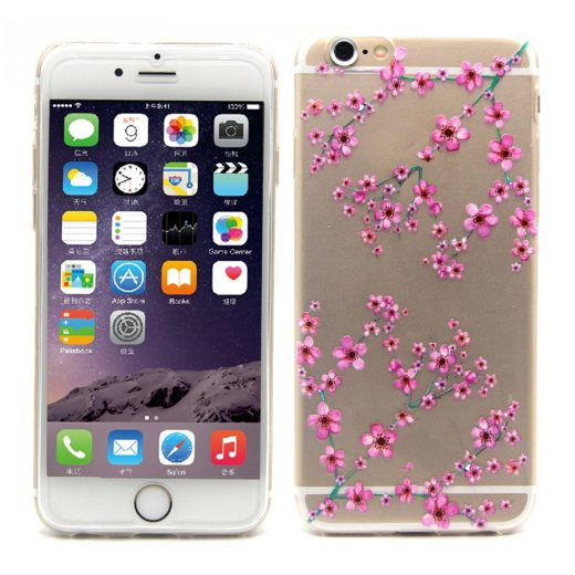 iphone-6s-47-inch-hoes-cover-case-tpu-transparant-plum-blossom