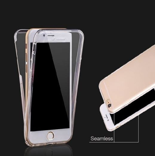 case - TPU - Transparant - Front + Backcase