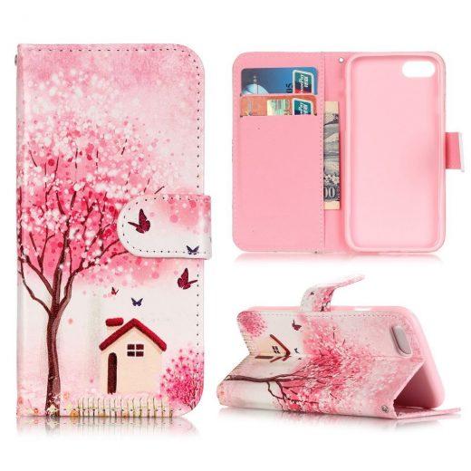 iphone-7-plus-flip-hoes-cover-case-pu-leder-tpu-huis-met-boom-roze