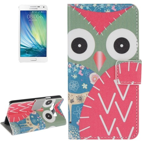 samsung-a3-flip-case-cover-hoesje-owl