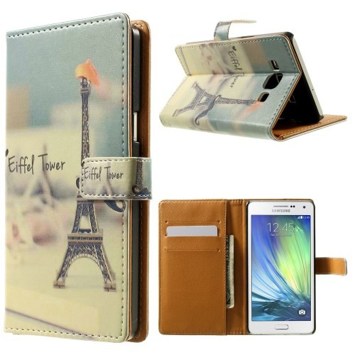 case - PU leder - PC - Eiffel tower - Wit
