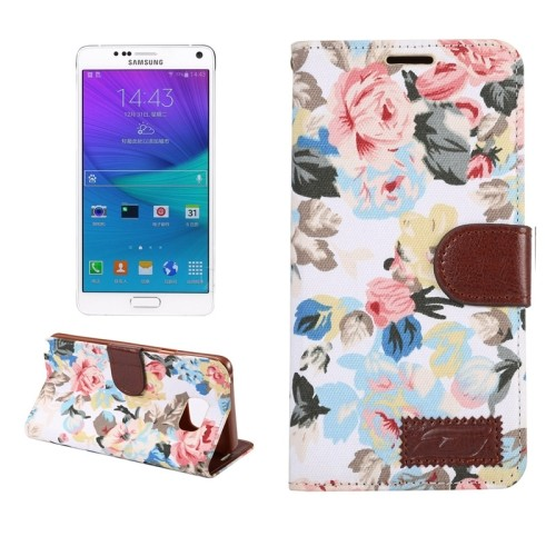 samsung-galaxy-note-5-flip-case-cover-hoesje-cloth-flower