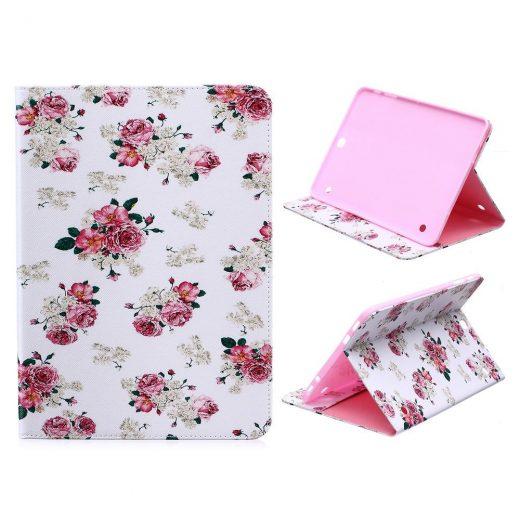 case - PU leder - Pink Flowers